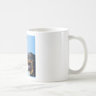 Mug Poème de mère - conception de rottweiler