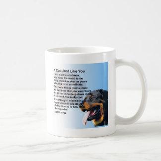 Mug Poème de papa - conception de rottweiler