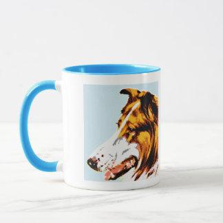 Mug Pointillism moderne : colley rugueux de foyer mou