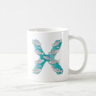 Mug Poissons animaux de rayon X d'alphabet