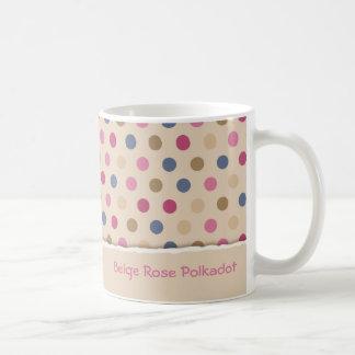 Mug Polkadot de rose de beige