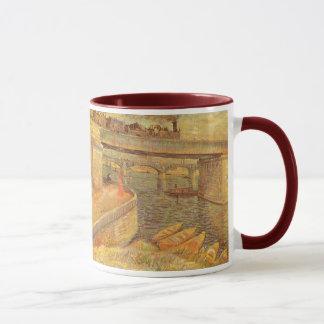 Mug Ponts à travers la Seine par Vincent van Gogh