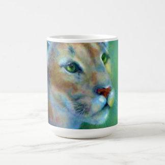 Mug Porcelaine puma peint