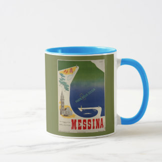Mug Port de Messine d'annonce italienne vintage de