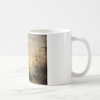 Mug Port maritime au coucher du soleil par Claude