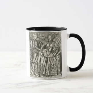 Mug Portrait de James I (1566-1625) et Anne de Denmar