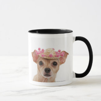 Mug Portrait de petit chien dans le sombrero