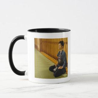 Mug Portrait d'un escrimeur de Kendo