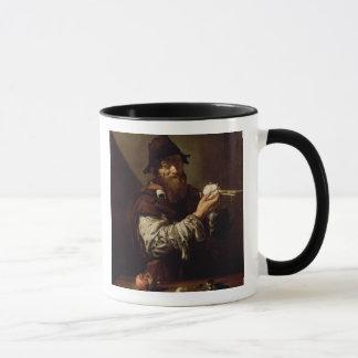 Mug Portrait d'un vieil homme à un oignon (huile sur