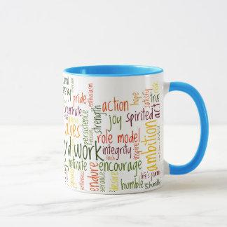 Mug Positivité de motivation des mots #2 à chaque