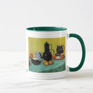 Mug Pot bleu de café d'émail par Vincent van Gogh