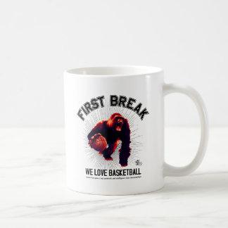 Mug Première coupure, basket-ball d'amour, gorille