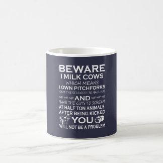 Mug Prenez garde des vaches à lait d'I