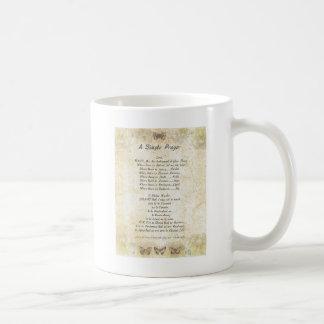 Mug PRIÈRE SIMPLE de St Francis de francis= de