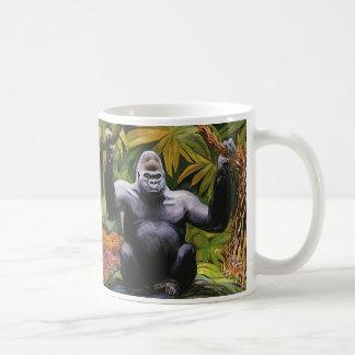 Mug Primat vintage de jungle, gorille de plaine de