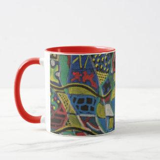 Mug Produits piqués de cadeau d'abstraction