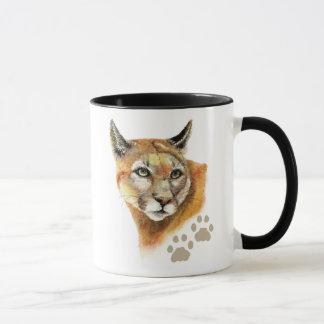 Mug Puma de puma d'aquarelle, puma, animal