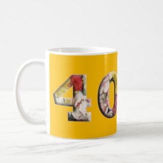 Mug quarantième Anniversaire d'anniversaire 40 ans de