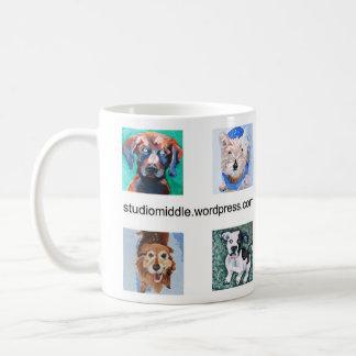 Mug Quatre chiens carrés (portraits de HSUS)