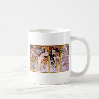 Mug Quatre saisons par Alphonse Mucha