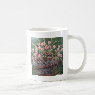 Mug Racoons de nature d'art de main de peinture de