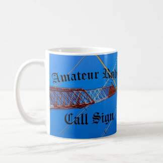 Mug Radio et indicatif d'appel amateurs Blackletter