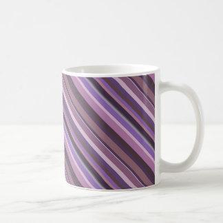 Mug Rayures diagonales mauve