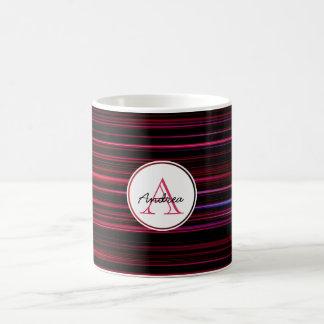 Mug Rayures rouges abstraites sur décoré d'un