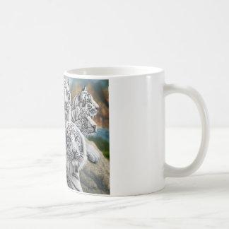 Mug recherche élevée de tigre blanc