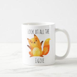 Mug Regardez tout le Fox que je donne à | le calembour