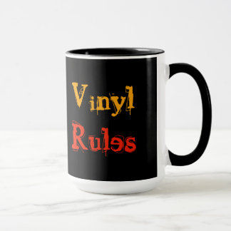 Mug Règles de vinyle