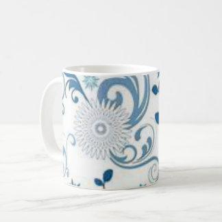 Mug Remous et fleurs de bleu