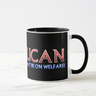 Mug Républicain, pas sur l'aide sociale