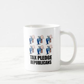 Mug républicains d'engagement d'impôts