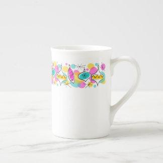Mug Rétro ligne porcelaine tendre de babioles d'arbre