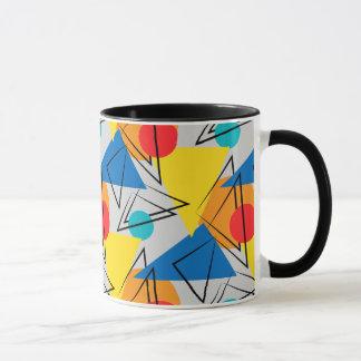 Mug Rétro motif coloré géométrique contemporain