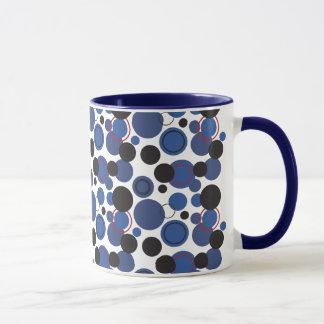 Mug Rétro pois en abondance dans le bleu profond