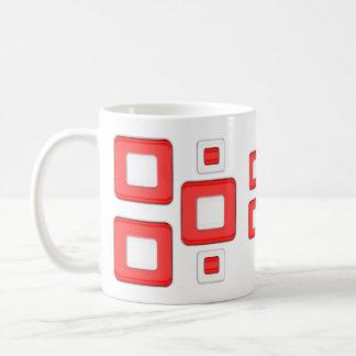 Mug Rétros carrés rouges et blancs de regard