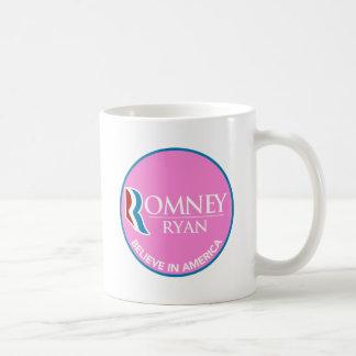 Mug Romney Ryan croient en rose rond de l'Amérique