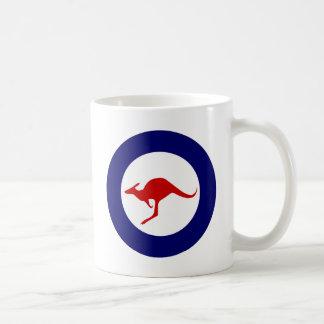 Mug Rondeau militaire d'aviation de kangourou de