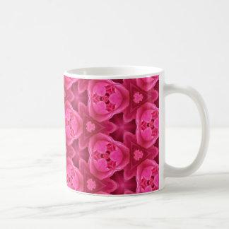 Mug Roses indien et motif floral rouge de rose de