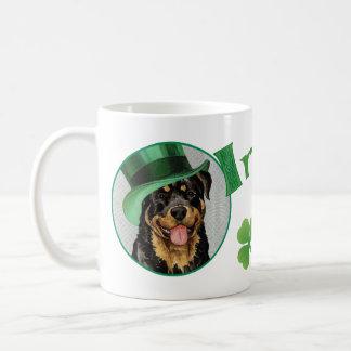 Mug Rottweiler du jour de St Patrick