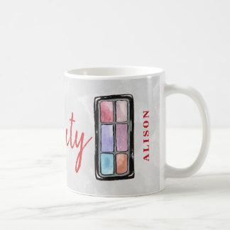 Mug Rouge à lèvres nommé de maquilleur et beauté de