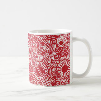 Mug Rouge de jungle de fleur