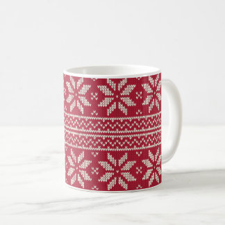 Mug Rouge de motif de Noël