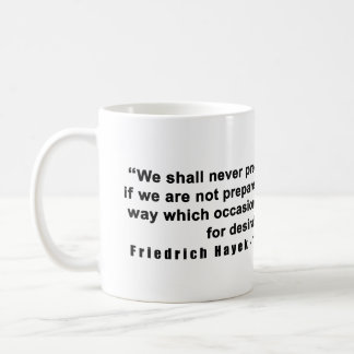 Mug Route de Friedrich Hayek à la citation de