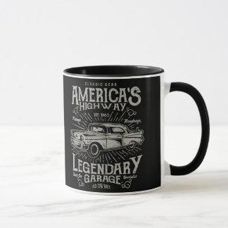 Mug Route de la voiture | Hotrod américain classique