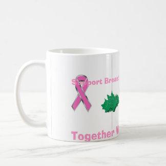 Mug ruban de cancer du sein, ruban de cancer du sein,