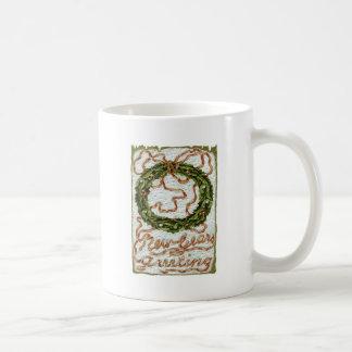 Mug Ruban de rouge de gui de houx de guirlande