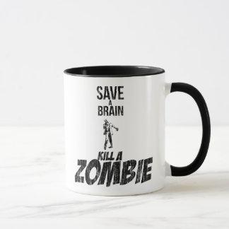 Mug Sauvez une mise à mort de cerveau un zombi
